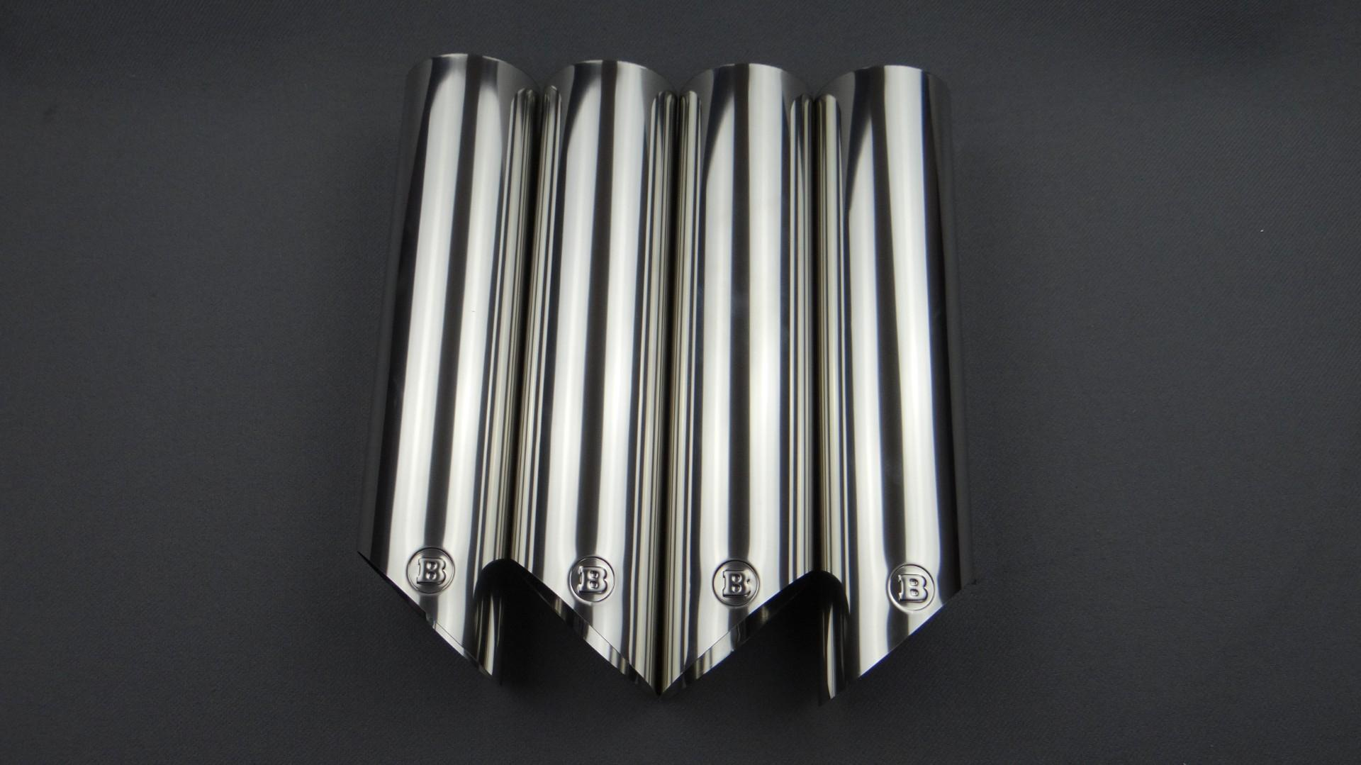 Mercedes-Benz G-Class Stainless Steel Chrome Exhaust Pipes Tips 4pcs